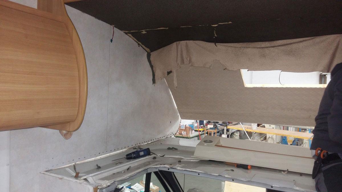 riparazione-mansarda1-infiltrazione-camper-mm-camper-pesaro