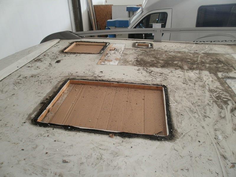 riparazione-tetto-camper-semintegrale-mmcamperpesaro11
